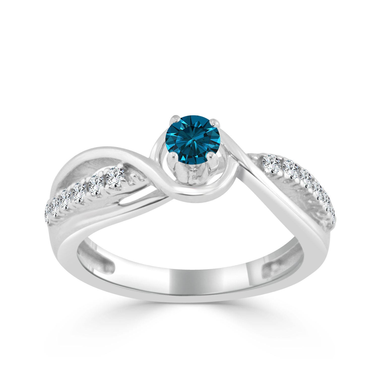 85d4cd69ace43f Image is loading Auriya-Round-2-5ctw-Blue-Diamond-Engagement-Ring-