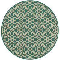 Style Haven Intricate Lattice Indoor/Outdoor Area Rug (7'10 Round) - 7'10