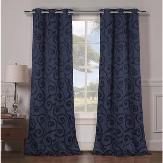 Duck River Lewis Grommet Top Thermal Insulated Blackout Curtain Panel Pair (As Is Item)