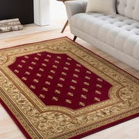 "Colonial Home Red Traditional Oriental Area Rug - 9'3"" x 12'6"""