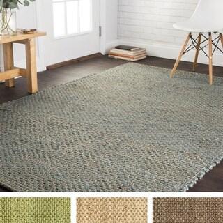 Hand-woven Natural Jute Rug (7'9 x 9'9)