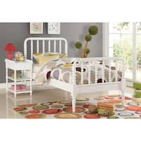 Jenny Lin White Wood Panel Bed