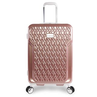 bebe Stella Rose Gold 21-inch Carry On Hardside 8-Wheel Spinner Suitcase|https://ak1.ostkcdn.com/images/products/16849350/P23148285.jpg?impolicy=medium
