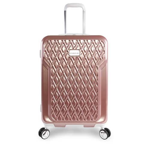 bebe Stella Rose Gold 21-inch Carry On Hardsided Spinner Suitcase