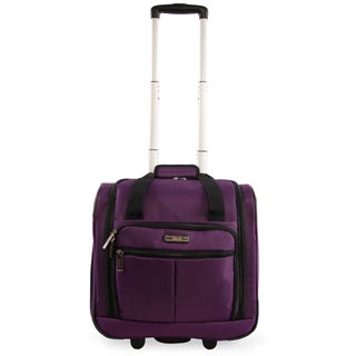 Pacific Coast Underseat 15.5-inch Rolling Carry-On Tote Bag (Option: Purple)