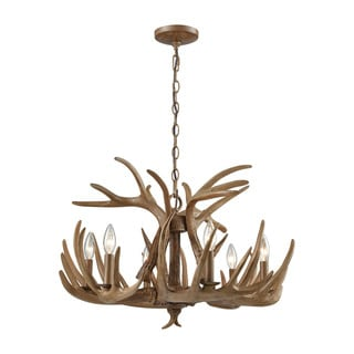 Elk Wood Brown 6-light Chandelier