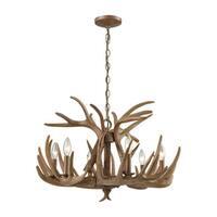 Elk Wood Brown 6-light Chandelier