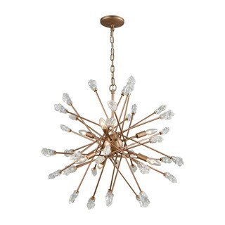 Link to Serendipity Matte Gold with Clear Bubble Glass 6-light Chandelier Similar Items in Outdoor Ceiling Lights