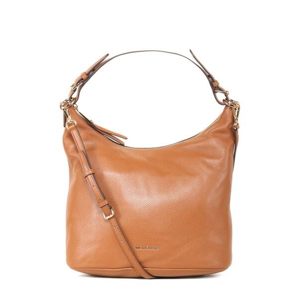Shop Michael Kors Lupita Large Luggage Brown Leather Hobo Handbag ... f7340a687f566