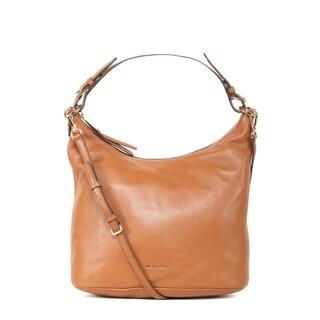 Michael Kors Lupita Large Luggage Brown Leather Hobo Handbag