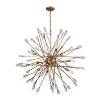 Serendipity Matte Gold with Clear Bubble Glass 9-light Chandelier
