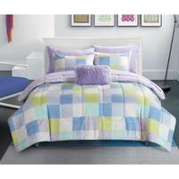 Geo Blocks Purple 8-piece Bed in a Bag Set