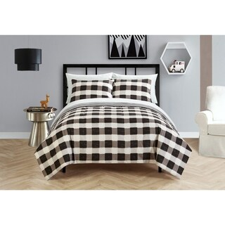 Black and White Checkered Bed in a Bag