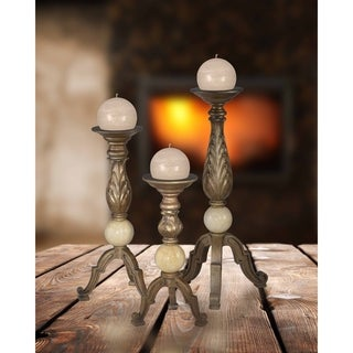 "Springdale Marcus 3-Piece (12""H,16""H,20""H) Marble Candle Holder Set"