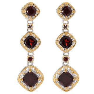 Michael Valitutti Palladium Silver Mozambique Garnet Five-Stone Dangle Earrings