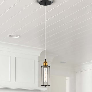 VONN Lighting VVP24011ABZ 5-inch Arden Industrial Pendant with LED Filament Bulb in Aged Bronze