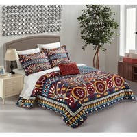 Chic Home Kaemon Blue 8-piece Complete Bed in a Bag Reversible Quilt Set