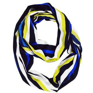 Link to Peach Couture Sassy Stripes Vintage Style Multi Color Light Infinity Loop Scarf Similar Items in Scarves & Wraps