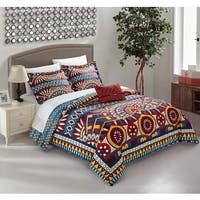 Chic Home Aya Blue 8-piece Complete Bed in a Bag Reversible Duvet Cover Set