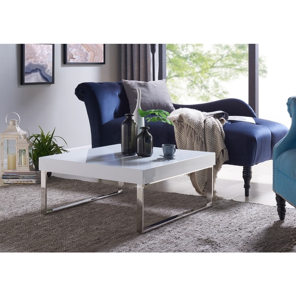 Shop Handy Living Enrique White Square Coffee Table With