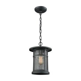 Aspen Lodge Textured Matte Black Outdoor Pendant Light