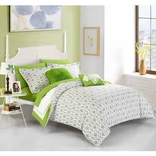 Chic Home Alon Green 9 Piece Complete Bed in a Bag Reversible Comforter Set