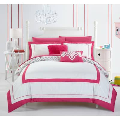 Chic Home Alon Fuchsia 9-piece Complete Bed in a Bag Reversible Comforter Set