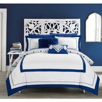 Chic Home Alon Blue 9-piece Complete Bed in a Bag Reversible Comforter Set