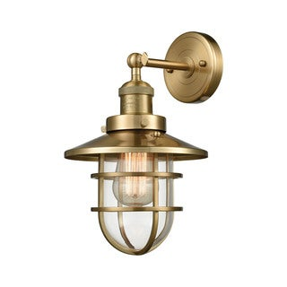 Seaport Satin Brass 1-light Wall Sconce