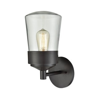 Link to Mullen Gate Oil-rubbed Bronze and Clear Glass 1-light Outdoor Wall Sconce Similar Items in Outdoor Wall Lights