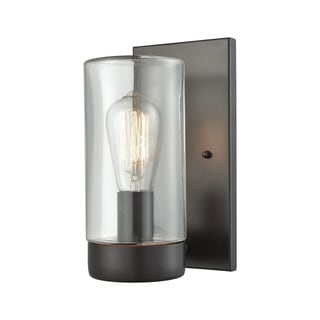 Link to Ambler Oil-rubbed Bronze Metal and Clear Glass 1-light Outdoor Wall Sconce Similar Items in Outdoor Wall Lights
