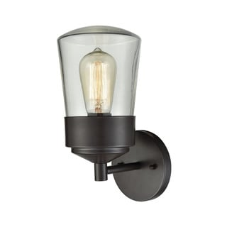 Link to Mullen Gate Oil-rubbed Bronze 1-light Outdoor Wall Sconce with Clear Glass Similar Items in Outdoor Wall Lights