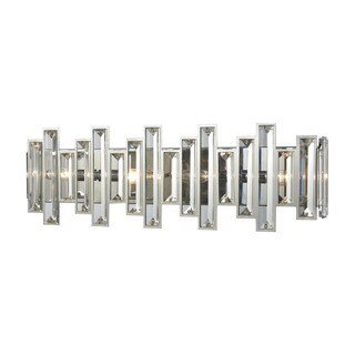 Crystal Heights Polished Chrome Metal and Clear Crystal 4-light Vanity