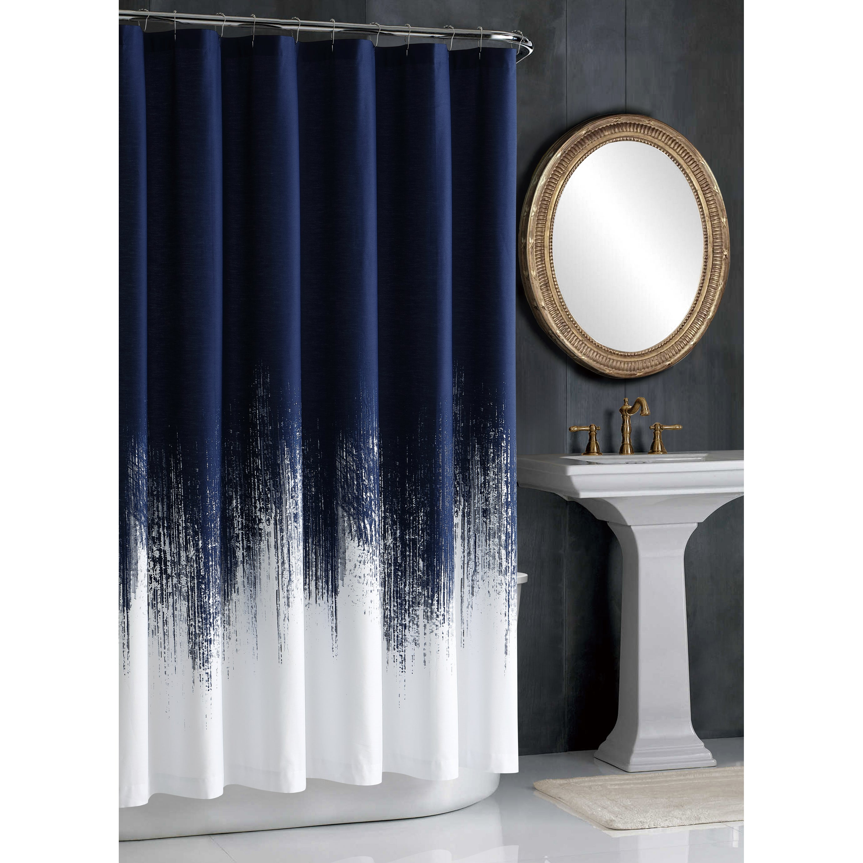Shop Vince Camuto Lyon Brushstroke Printed Shower Curtains - Free ...