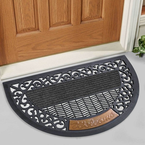 Shop Fh Group Indoor Outdoor Arch Semi Circle Mats Rugs Doormat 16