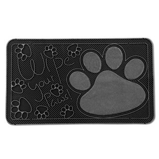 "FH Group Indoor Outdoor Mats Rugs Doormat 16"" x 28"" - Rubber utility mat for pets dogs muds shoes or home"