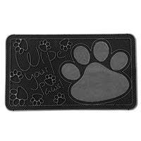 """FH Group Indoor Outdoor Mats Rugs Doormat 16"""" x 28"""" - Rubber utility mat for pets dogs muds shoes or home"""