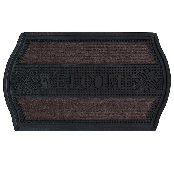 """FH Group Indoor Outdoor Mats Rugs Doormat 18"""" x 30"""" - Rubber utility mat for pets dogs muds shoes or home"""