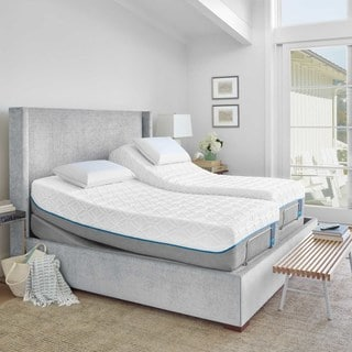 TEMPURCloud Supreme 11.5-inch Split California King-size Ergo Premier Adjustable Mattress Set