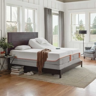 TEMPURContour Supreme 11.5-inch Split California King-size Ergo Premier Adjustable Mattress Set