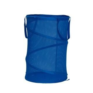 Polyester Pop Up Spring Form Hamper in Imperial Blue