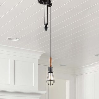 VONN Lighting VVP24211ABZ 10-inch Arden Industrial Pendant with LED Filament Bulb in Aged Bronze