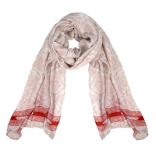 Peach Couture Women's Summer Fashion Light Weight Damask Print Long Scarf