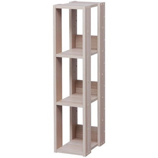 IRIS 3-shelf Light Brown Slim Wood Storage Shelving Unit