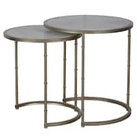 Eclipse Antique Metal Stacking Tables (Set of 2)