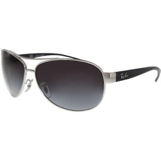 Ray-Ban Unisex Black/Silver Metal Round Active Sunglasses With Grey Lenses