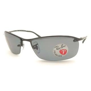 Ray Ban Unisex RB 3183 002/81 Black Metal Sunglasses with Grey Polarized Lenses