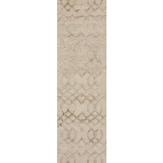 Hand-hooked Carolyn Taupe Curved Trellis Rug (2'3 x 7'6)