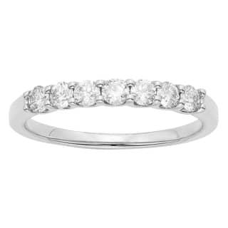 14K Certified 1/2CT Diamond Wedding/Anniversary Band|https://ak1.ostkcdn.com/images/products/16850573/P23149356.jpg?impolicy=medium