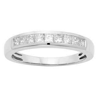 14K Certified 1/2CT Diamond Wedding/Anniversary Band